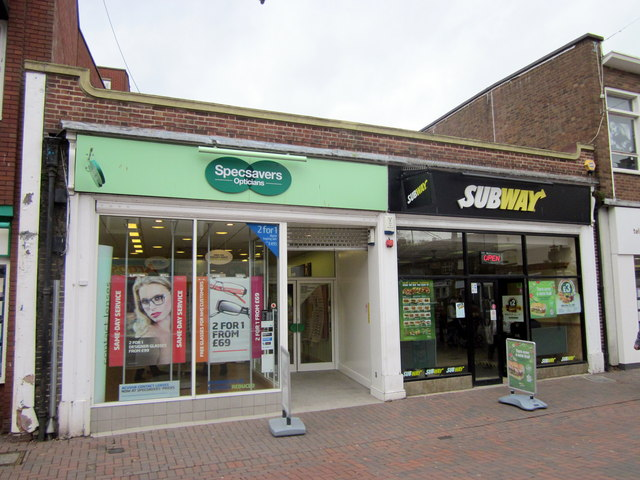 Bromsgrove High Street  Specsavers & Subway