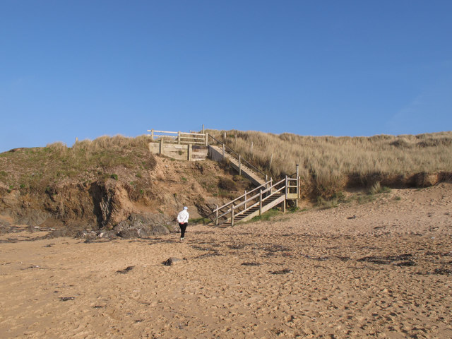 Wooden steps from Constantine Bay