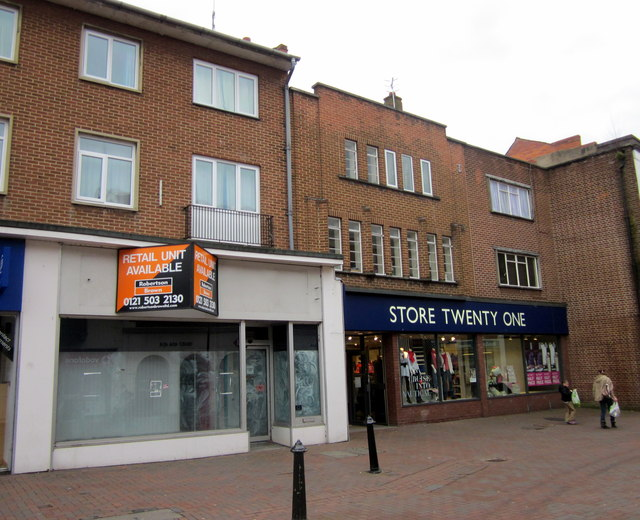 Bromsgrove High Street  Retail Unit Available & Store Twenty One