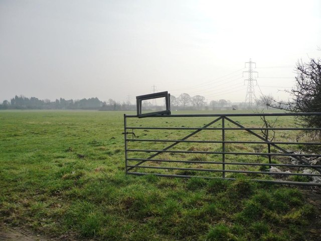 Open field gate