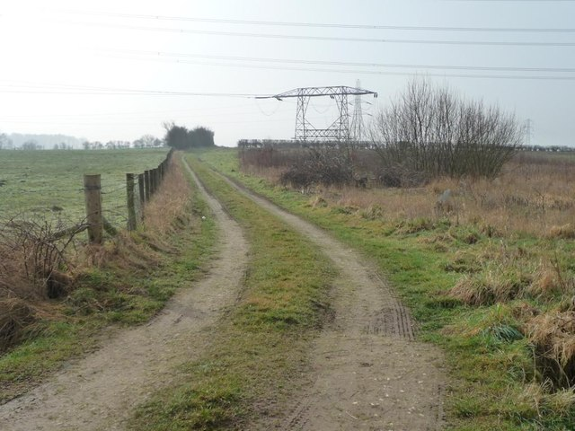 Unmapped track south of Kirk Balk Lane