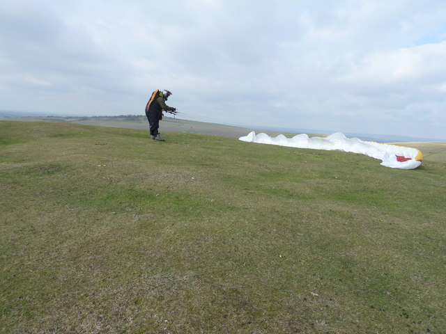 Safe landing on Mount Caburn