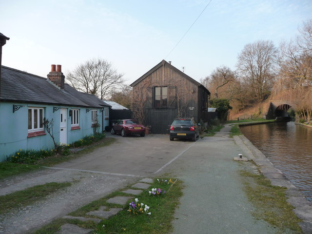 Canalside cottages in spring