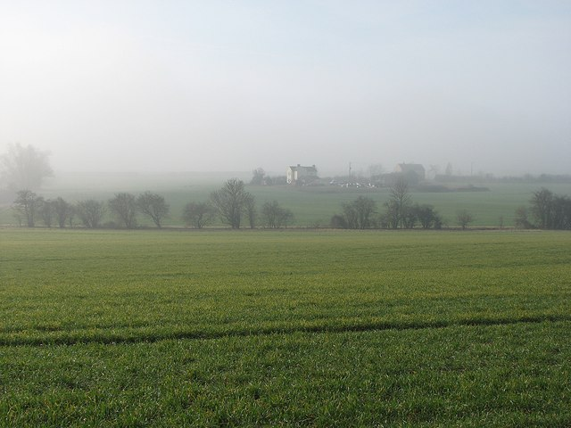 Bin Brook and Jaggard's Farm in the mist
