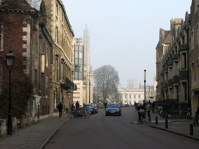 A misty morning in Trumpington Street