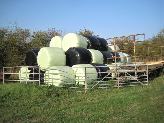 Bales of green and black