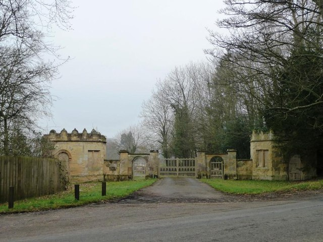 Gated entrance to Howsham Hall
