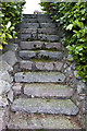 NO6995 : Steps, leading up Gallow Hillock by Alan Findlay