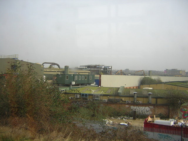 Industrial area to the south of Willesden Junction, from the Overground train
