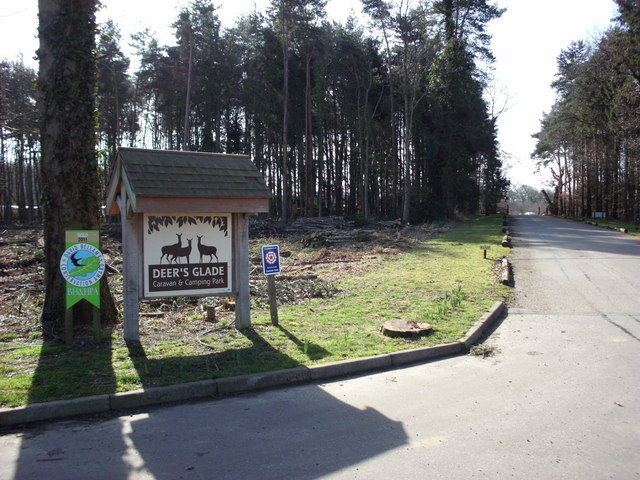 Entrance to Deer's Glade Caravan and Camping Park