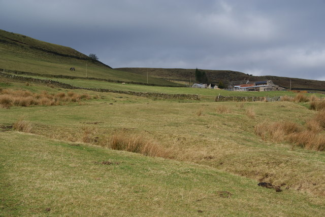 The climb to Far Cown Edge Farm