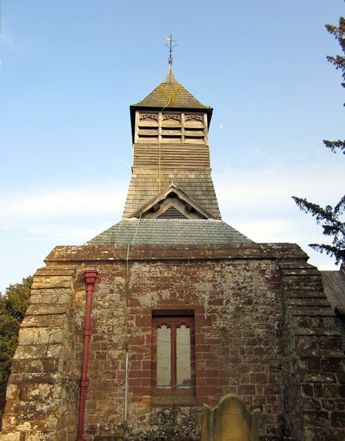 The tower and belfry of St Mary's Church, Bruera