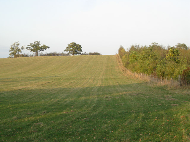 Rising ground, southwest side of an unnamed hill