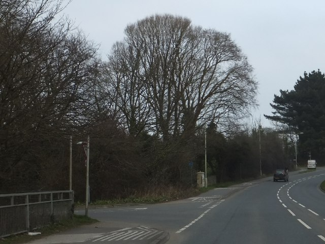 The road from Fremington Pill joins the B3233