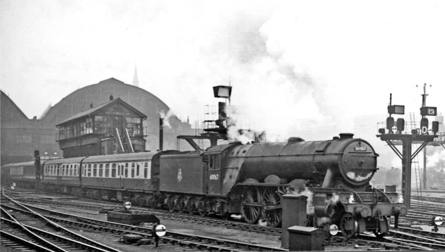 Relief express to York and Hull leaving King's Cross