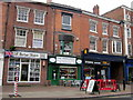 SO9570 : Bromsgrove High Street  UK Barber Shops, The Regency & Eyedeal Eyecareps, by Roy Hughes