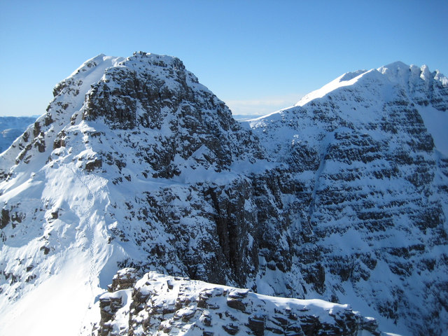 The Fasarinen pinnacles from Liathach Summit