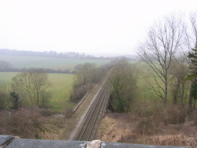 The Cotswold Line from Grintleyhill Bridge