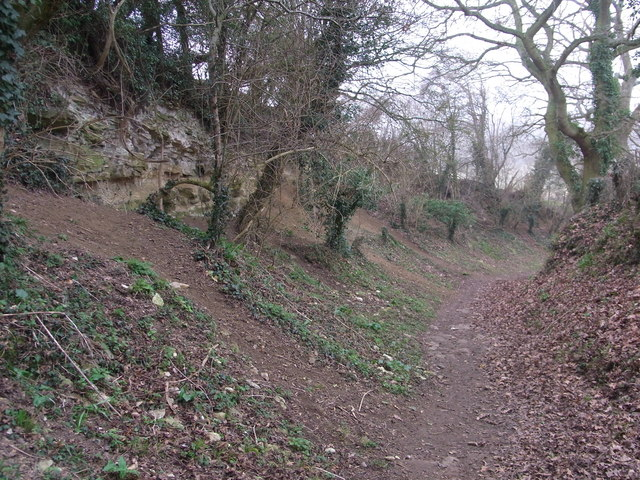 A 'holloway' track from  the R. Evenlode to Stonesfield