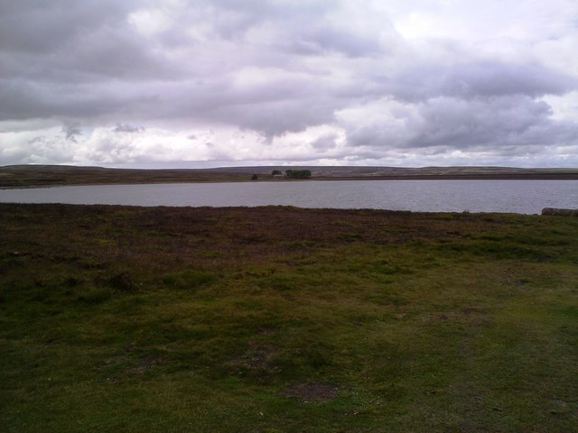Looking across Smiddyshaw Reservoir