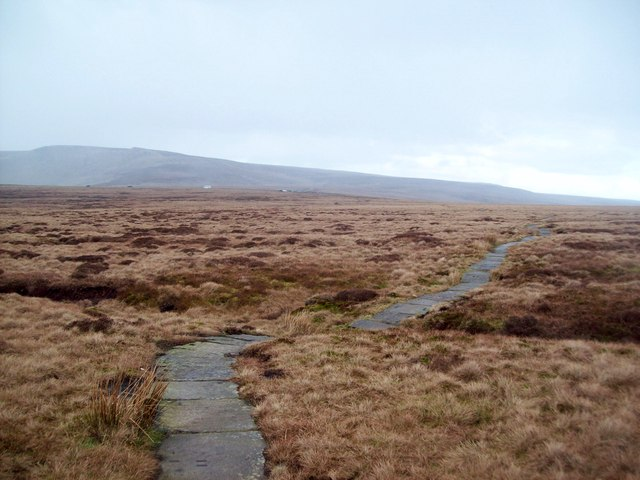 The Pennine Way on Featherbed Moss