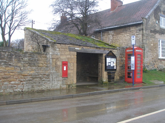 Bus shelter in the centre of the village