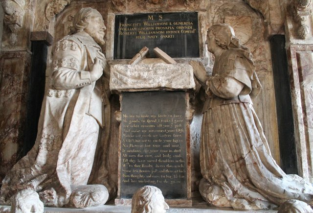 Memorial to Francis Williamson, St Mary Magdalene church