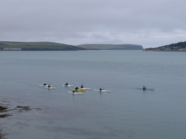 Sea kayak guided tour on the Camel Estuary