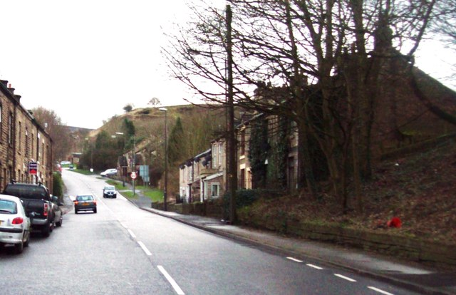 The A624 Road in Charlestown
