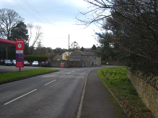 The eastern approach to Montacute village