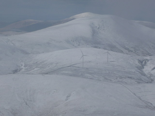 Wind turbines at Glenkerie wind farm