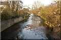 SP0682 : River Rea downstream from Dogpool Lane bridge, Selly Park by Phil Champion