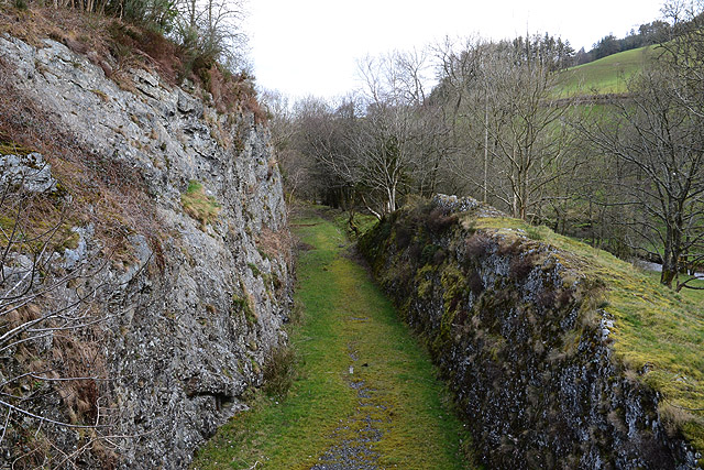 Cutting on the line of the Mid Wales Railway