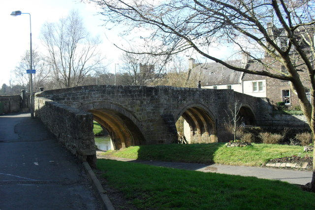 The old bridge across the Jed Water