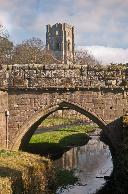 Bridge over River Skell, Fountains Abbey