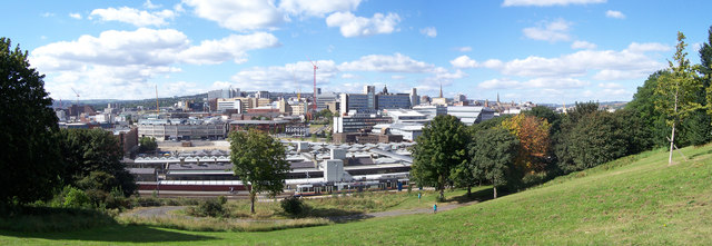 View over Sheffield in September 2007
