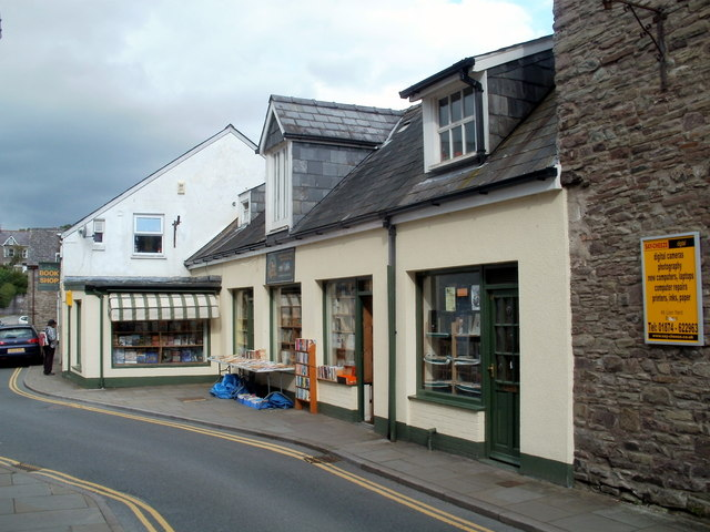 Lion Yard bookshop, Brecon