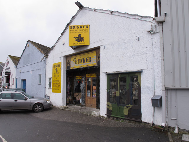 Military surplus shop in Wadebridge