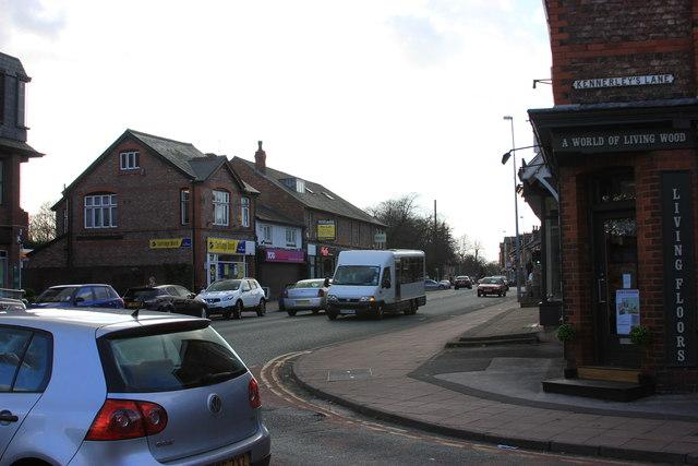 Water Lane/Kennerley's Lane junction, Wilmslow