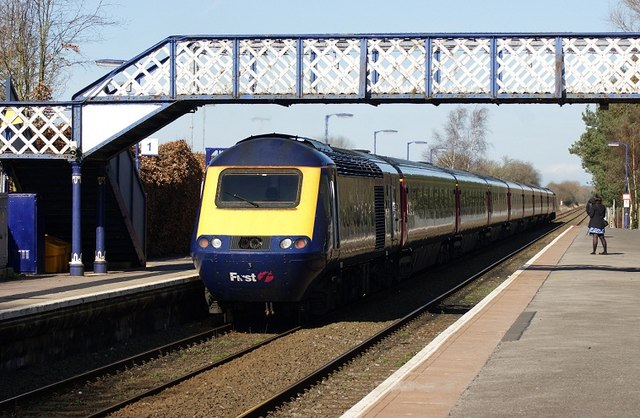 High Speed Train Leaving Kingham