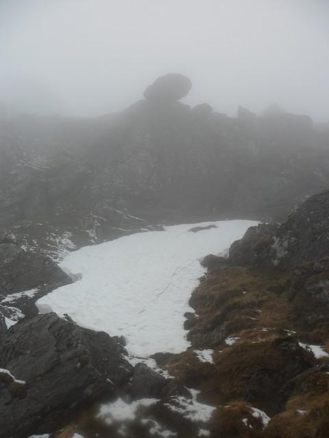 Erratic boulder on Beinn Tulaichean