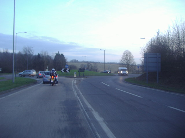 Approaching the roundabout on Ware Road