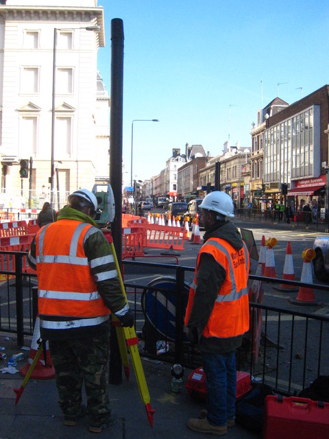 Surveying work in Praed Street Paddington