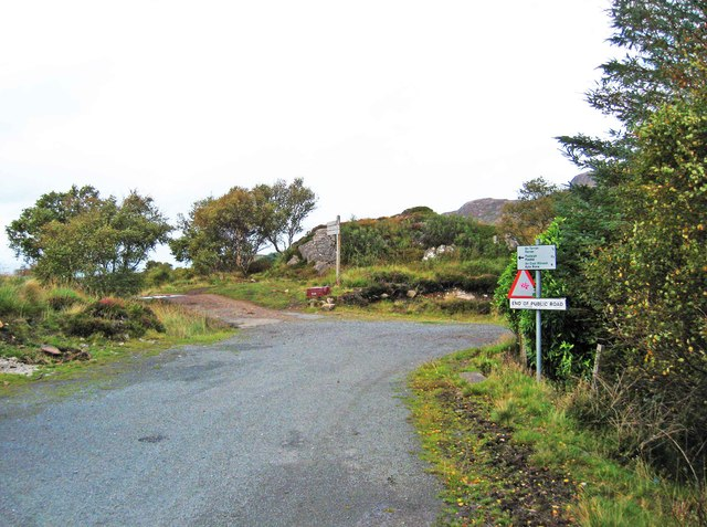End of the public road at Arnish, Raasay