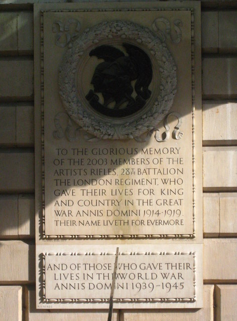 War Memorial at the Royal Academy