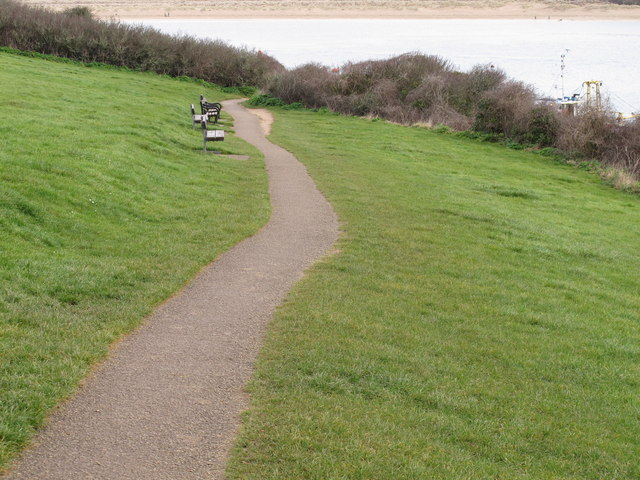Path to Padstow-Rock ferry at  low tide