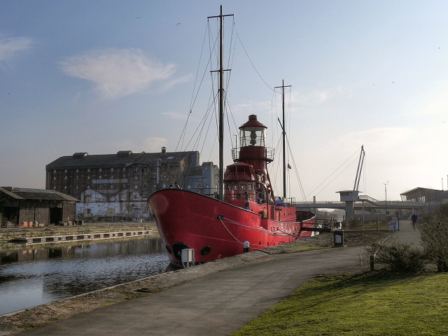 "Lightship ""Sula"" at Llanthony Quay"