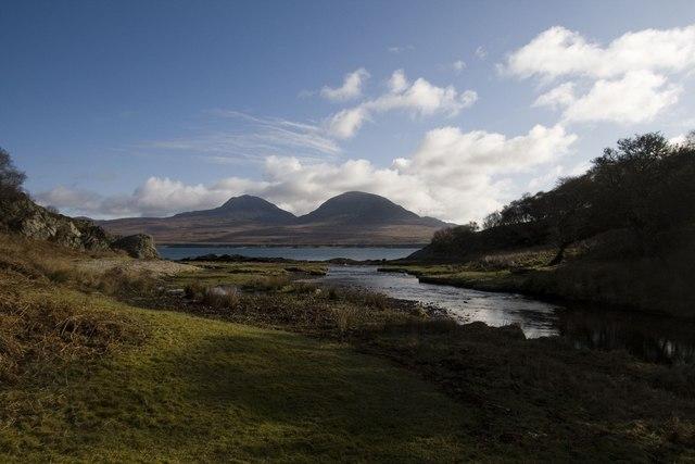 Margadale River and the Sound of Islay, Bunnahabhain, Islay