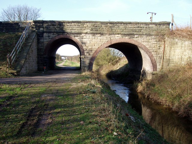 Bridge carrying the B5195 over the Trans Pennine Trail
