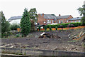 SJ7066 : Canalside building site in Middlewich, Cheshire by Roger  Kidd